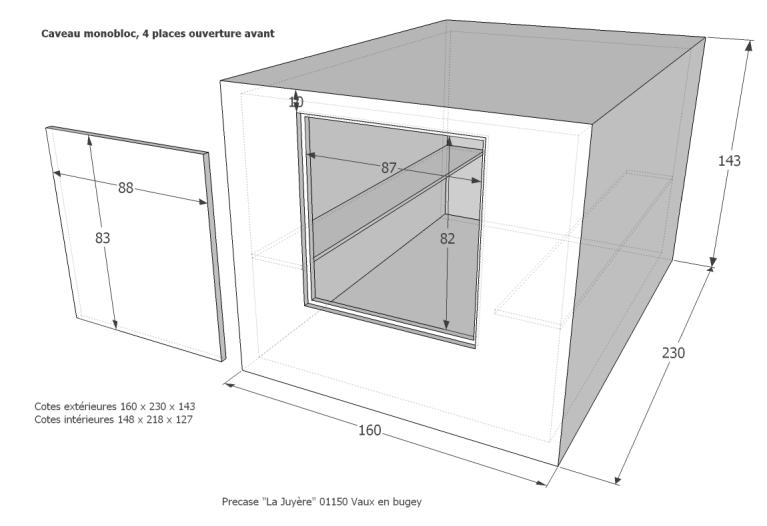 caveau monobloc fun raire fabricant de caveaux monobloc de qualit precase s e. Black Bedroom Furniture Sets. Home Design Ideas